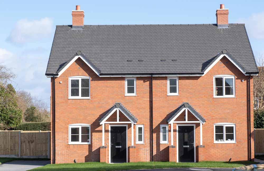 Housing development, Bomere Heath, TC Homes