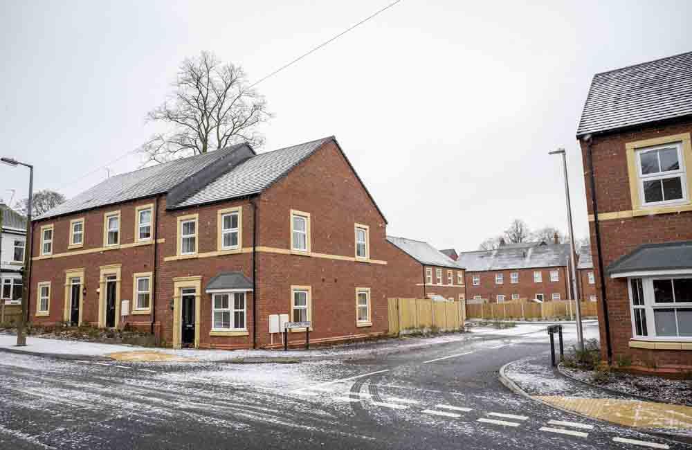 Terrace houses in Shropshire, TC Homes Development
