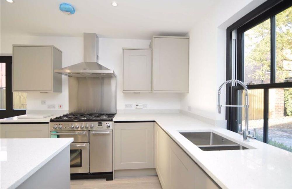 Modern kitchen by Shropshire housing development company
