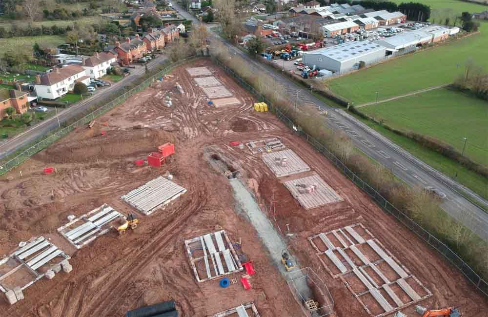 New housing development, Shrewsbury, Shropshire Construction Services